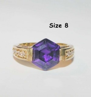 unique amethyst fashion ring free shipping 199894