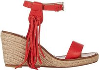 Valentino Leather Deep Orange Platforms
