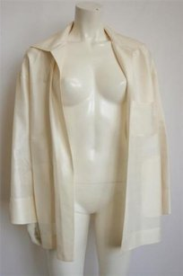 Valentino Miss V Silk Blazer Cream Jacket