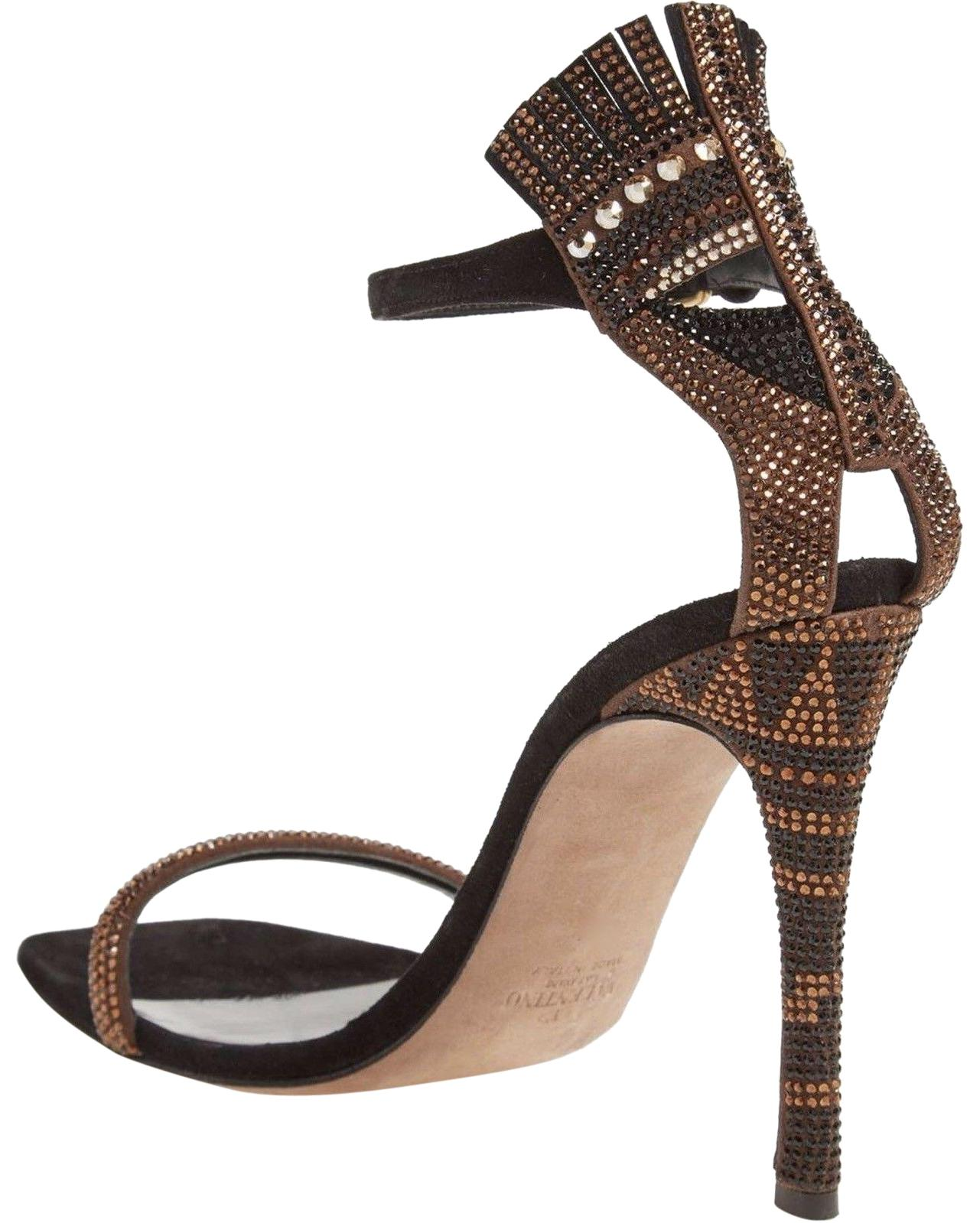 Valentino Blach Africa Glam Mask Sandals Size EU 40 (Approx. US 10) Regular (M, B)