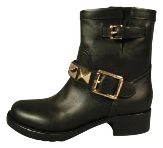 559c1c51ea40 Valentino Black 36.5 Gold Gold Gold Rock Studs Ankle Biker Motocycle  Boots Booties Size US 6.5 Regular (M