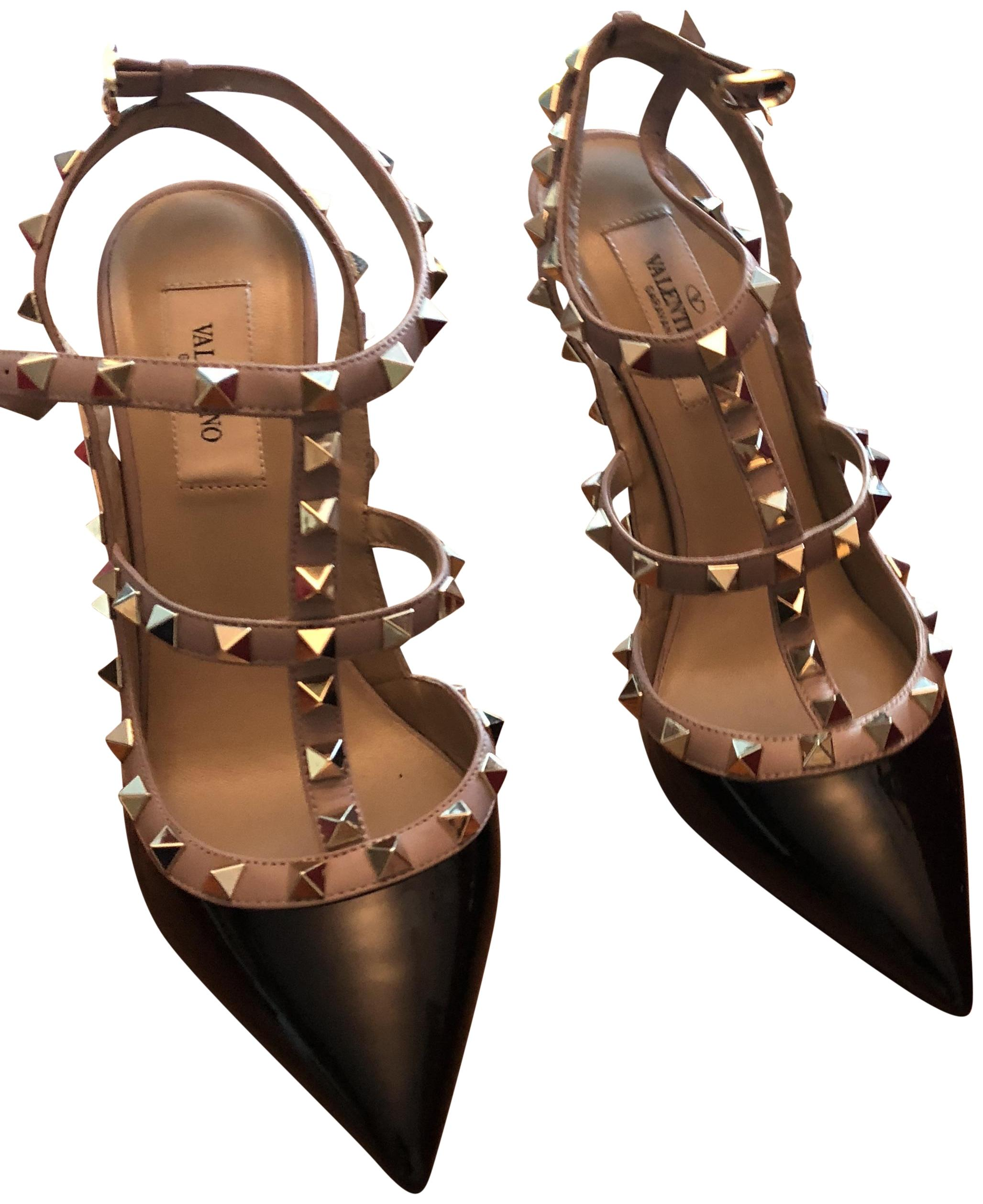 Valentino Black and Beige Style Code: 0400086947099 - Saks Fifth Avenue Pumps Size US 7.5 Regular (M, B)