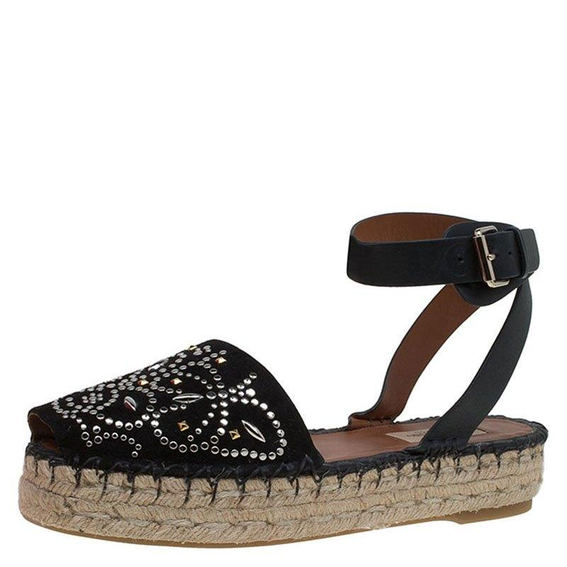 Valentino Embellished Ankle Strap Espadrilles free shipping low price fee shipping 1SCN9RfaP