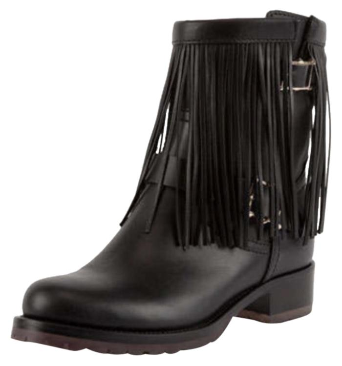 Valentino Leather Fringe Boots free shipping low shipping cheap brand new unisex T3jnLI13