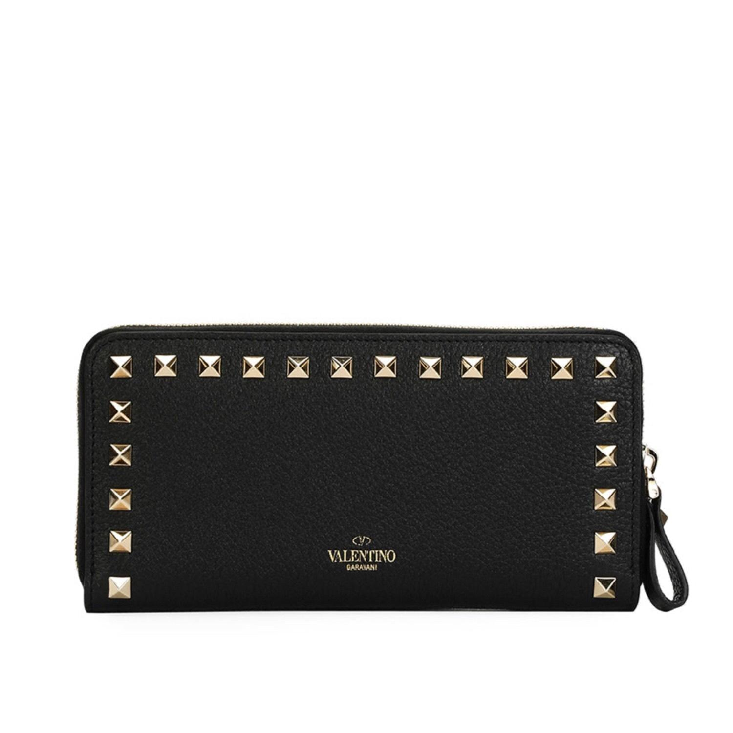 Rockstud zipped around continental wallet Valentino