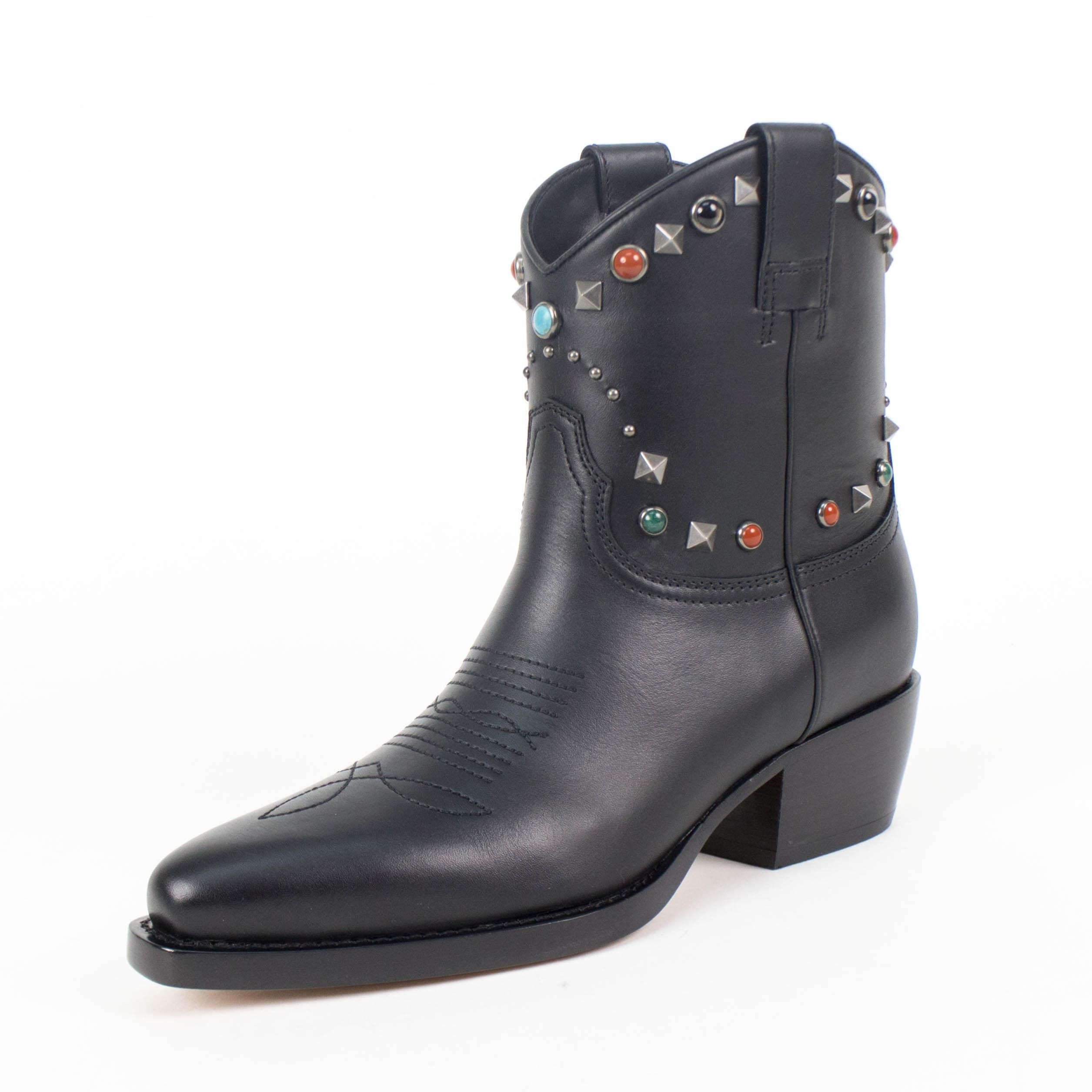 Valentino Woman Leather Cowboy Boots Black Size 39.5 Valentino VFqw7uy0D