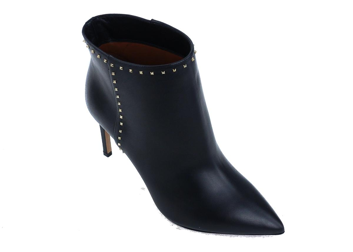 Valentino Black Leather Rockstud Ankle Boots/Booties Size US 9 Regular (M, B)