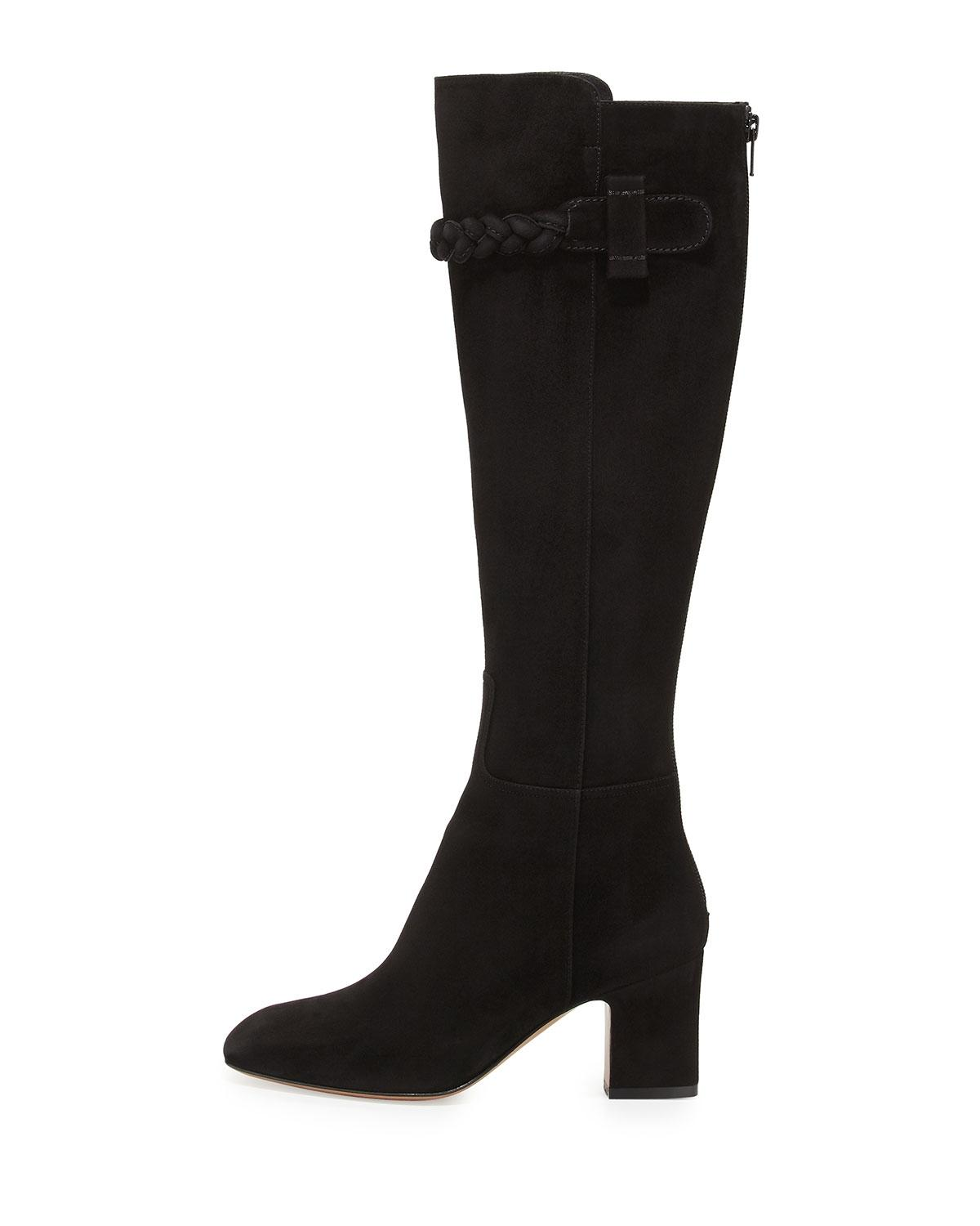 Valentino Black Nwb Braided Suede Knee 35/5 Boots/Booties Size EU 35 (Approx. US 5) Regular (M, B)