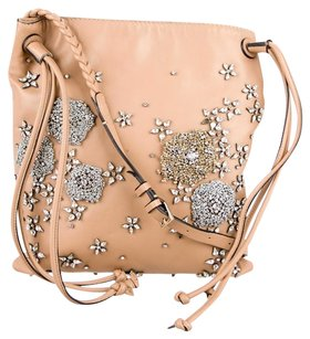 Valentino Crystal Leather Holiday Embellished Cross Body Bag