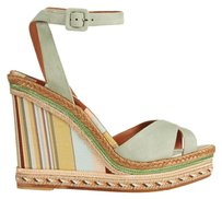 Valentino Rockstud Native Couture 1975 Print Wedges