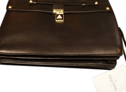 Valentino Leather Rockstud black Clutch