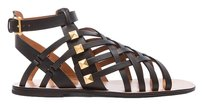 Valentino Gladiator Studded Black Sandals