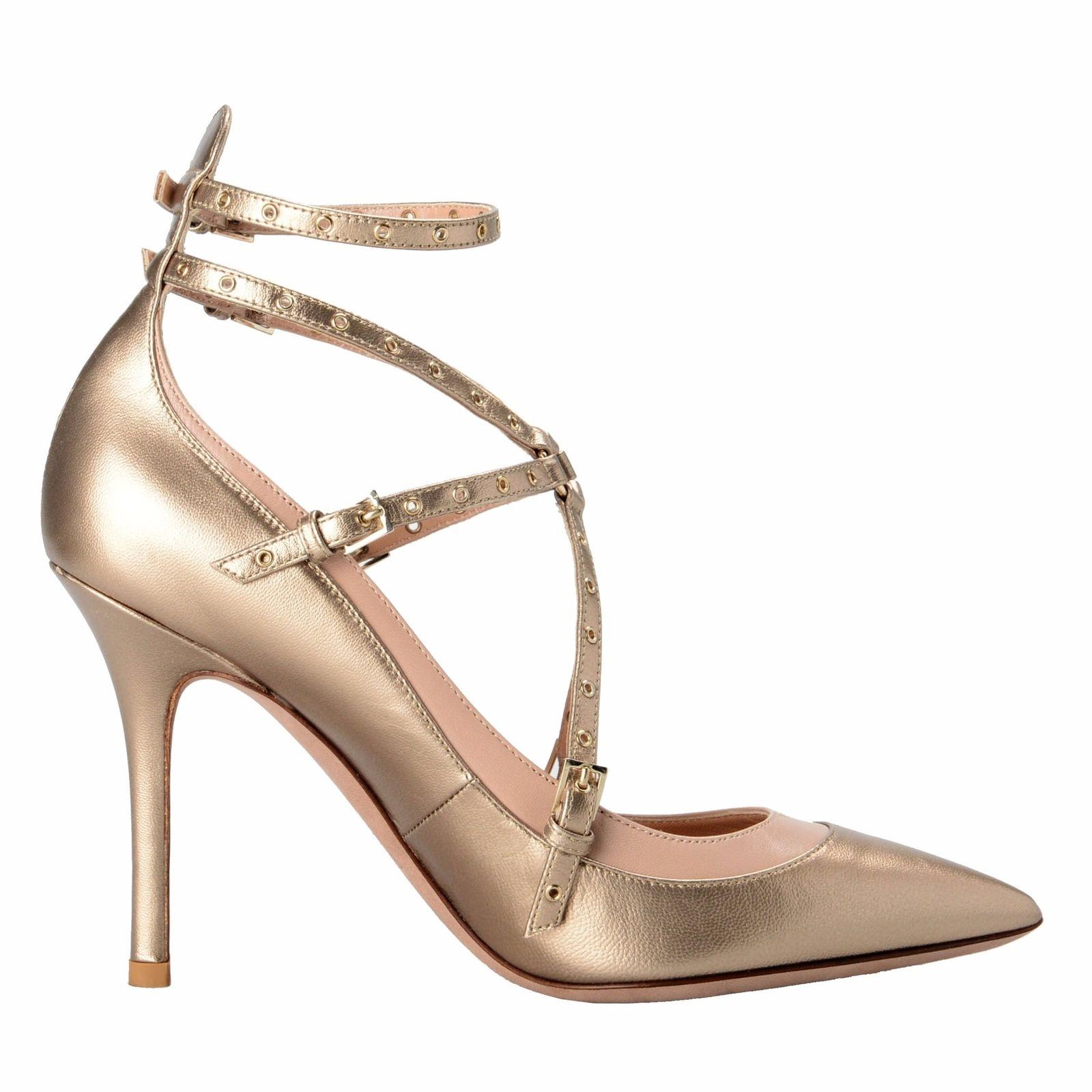 Valentino Gold Garavani Women's Leather Golden Ankle Strap ...