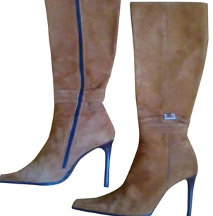 Valentino Knee High Brown Boots