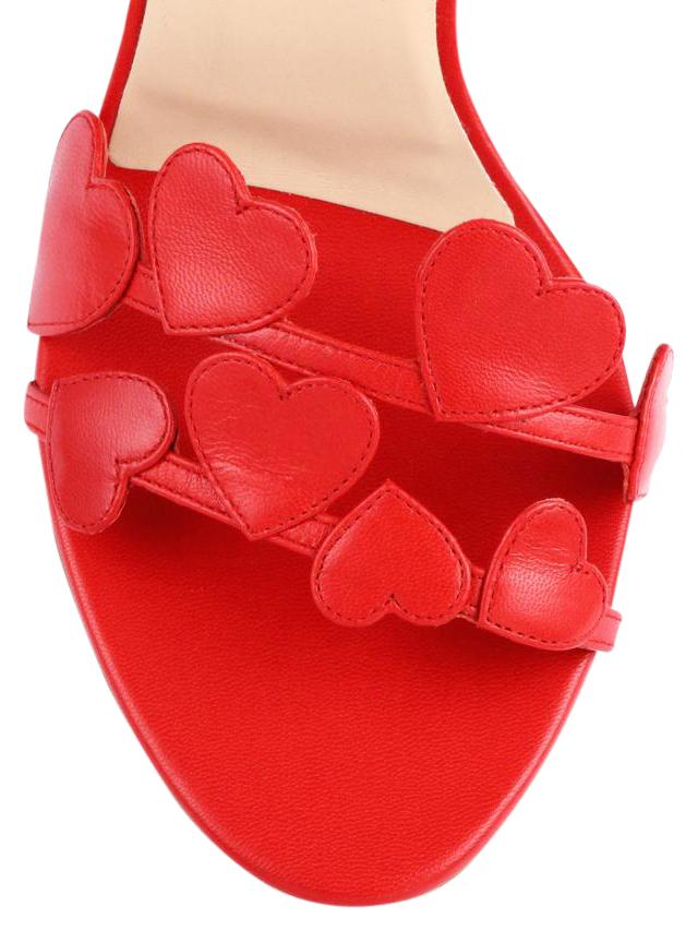 Valentino Red L'amour Heart Sandals Size US 7.5 Regular (M, B)