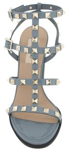 Valentino Rockstud Leather Grey Sandals