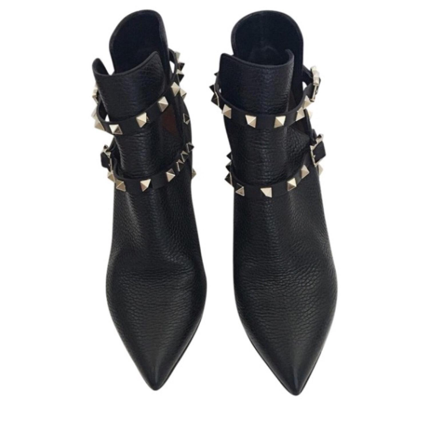 Valentino Rockstud Pointed Toe Boots/Booties Size US 5 Regular (M, B)