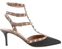 Valentino Rockstud Studded Ankle Strap Black Pumps