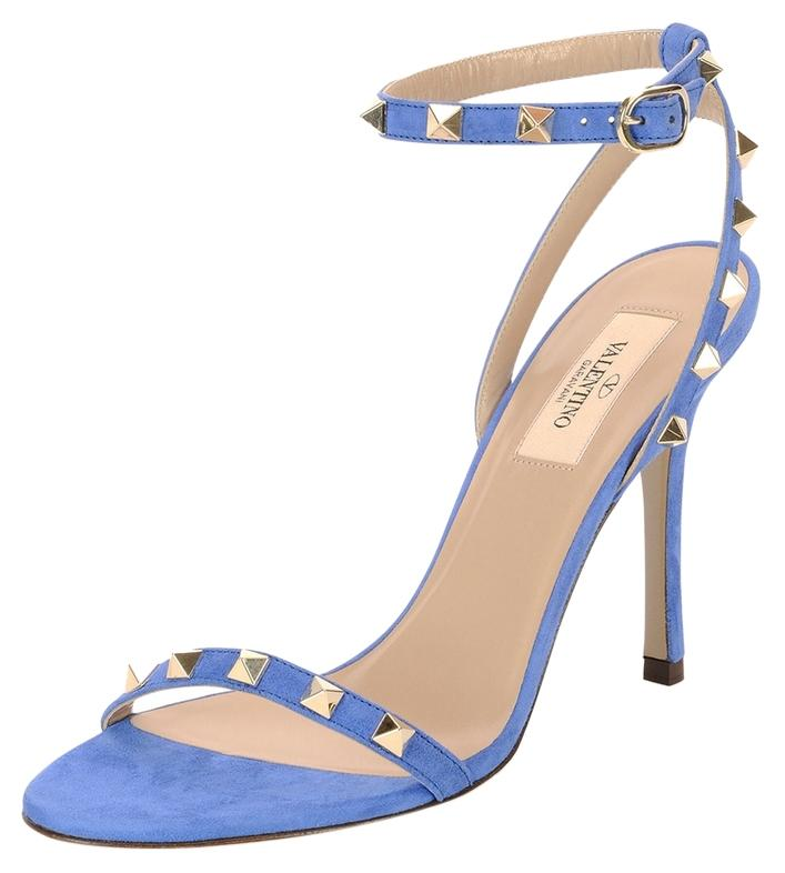 classic sale online professional sale online Valentino Suede Rockstud Sandals get authentic online lowest price cheap price from china free shipping low price r5sSI7