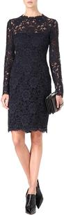 Valentino Navy Lace Long Dress