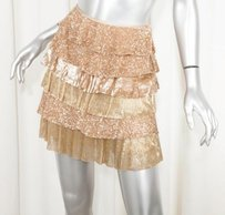 Valentino Womens Pale Skirt Gold