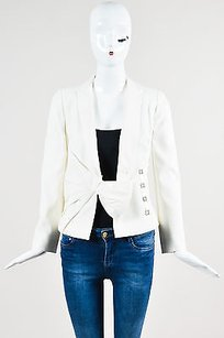 Valentino Valentino Cream Pleated Bow Blazer Jacket
