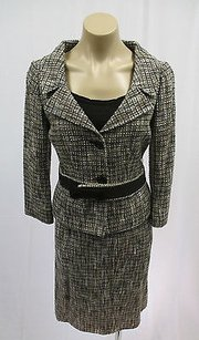 Valentino Valentino Roma Brown Beige Gray Boucle Skirt 4 Jacket 6 Tank 4