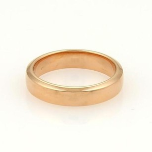 Van Cleef & Arpels Van Cleef Arpels Vca 18k Rose Gold Plain 4mm Wedding Band Ring
