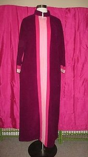 Vanity Fair Vanity Fair Zip-front Dacron Polyester Vintage Nightgown Robe Granny Made In Usa