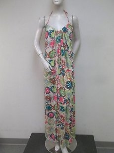 Multi-Color Maxi Dress by Velvet by Graham & Spencer Floral Maxi Halter Made In Usa