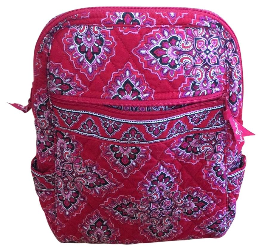 Vera Bradley has crafted a backpack that makes organization fun. The Iconic Campus Backpack is the fashionable solution for storing your everyday work essentials – measuring inches high, 12 inches wide, and inch in diameter with a inch top handle drop and 32 inch adjustable straps.