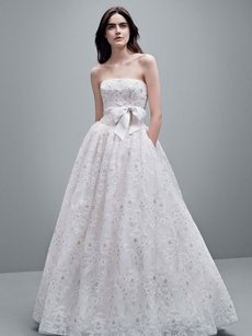 Vera Wang Vera Wang Organza Laser Cut Wedding Dress- Brand New! Wedding Dress