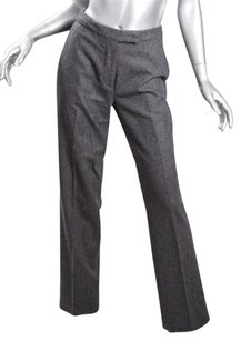 veronique branquinho Womens Charcoal Wool Dress Slacks Trousers 638 Pants
