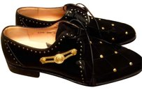 Versace Men By Mauri black and gold Flats
