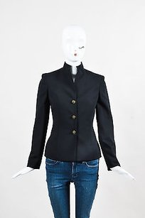 Versace Gianni Wool Black Jacket