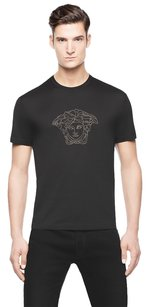 Versace Mens Medusa Cotton Shirt T Shirt Black
