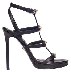 Versace Leather 2018 Collection Black with gold Sandals