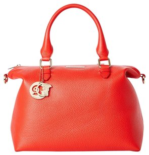 Versace Collection Satchel in Red Coral
