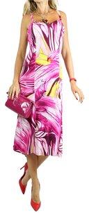 pink, yellow, white Maxi Dress by Versace