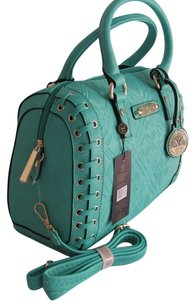 Versace Satchel in Teal