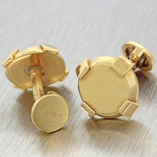 Versace South Beach Versace Italy 18k Solid Yellow Gold Mens Cufflinks