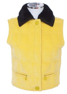 Versace Velvet Sleeveless Fur Leather Vest