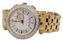 Versace Versace Mens 29g70d001 S070 V-race Stainless Steel Watch With Diamonds 5 Ct