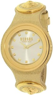 Versace Versace Women's Carnaby Street Gold Leather Quartz Watch
