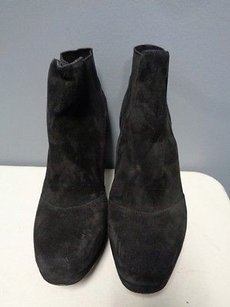 Via Spiga Suede Stretchy Heeled Pull On B3360 Black Boots