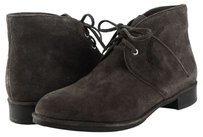 Via Spiga Ignia Suede Womens Designer Lace Up Ankle Dark Grey Boots