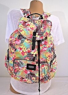Victoria's Secret Hawaiian Tropical Palm Floral Spring Backpack