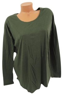 Victoria's Secret Pink Slouchy Sleep Teesolid Olive T Shirt Green