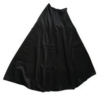 Victoria's Secret Maxi Skirt Black Polyester, Acetate Lining