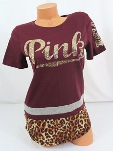 Victoria's Secret Victorias Pink T Shirt Red